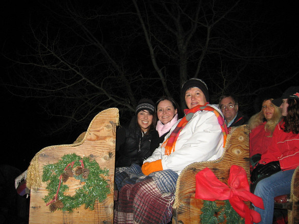 Christmas Eve sleigh ride at the Redstone Inn