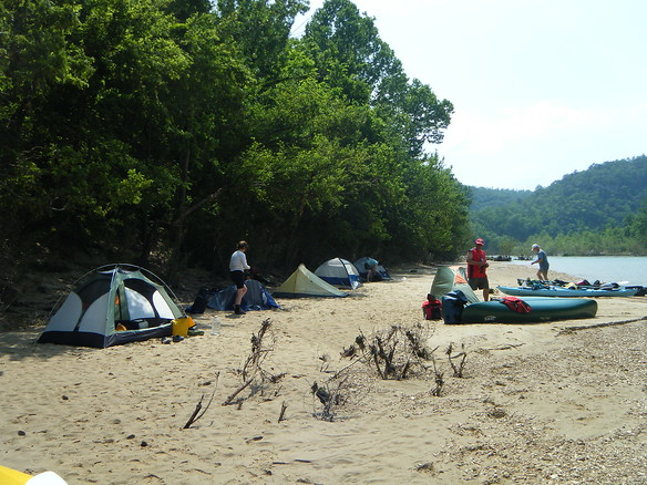 Camp #2 - just past Spring Creek - nice and flat with lots of shade