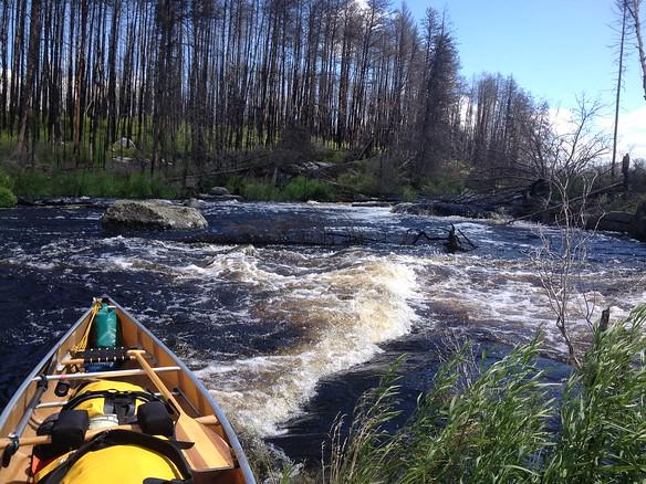 Day 1 Rapids we portaged around (Leigh - iPhone photo)