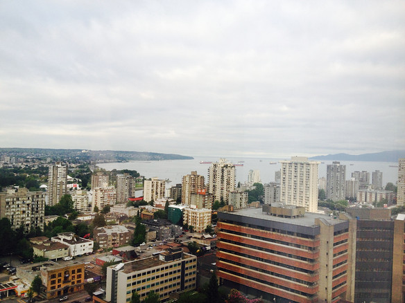 View from #2913 Sheraton Wall Centre, Vancouver