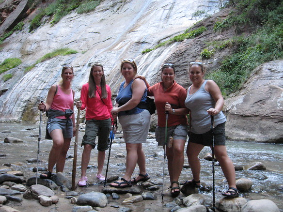9/12 - Lisa, Jenny, Olivia, me and Amy in the Narrows.