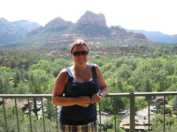 9/10 - balcony at Orchards Inn - Sedona