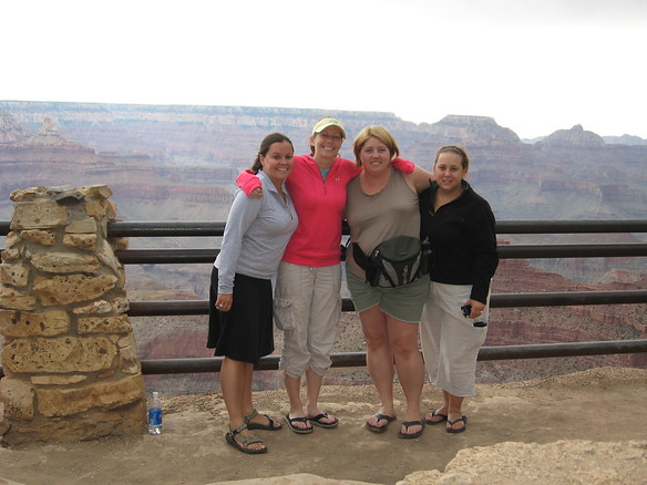 9/8 - me, Jenny, Olivia and Amy - celebrating the fact that we all made it out of the canyon!!!