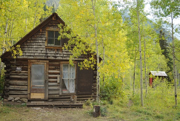 The Sperry cabin, which we rented for two nights.  (Outhouse included)