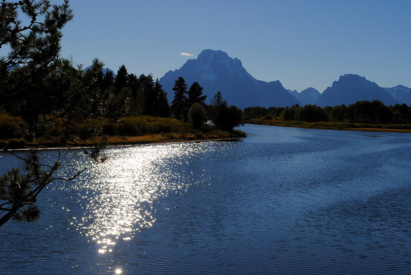 Tetons from the Oxbow Bend in the Snake River