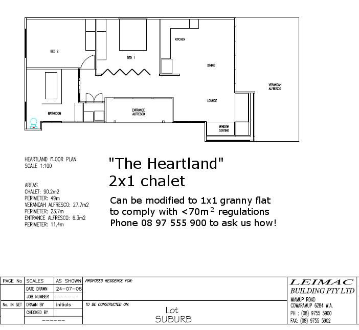 floor plan 2x1 granny flat