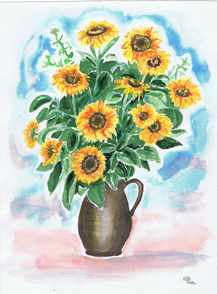 Vase Mit Blumen Zeichnen  mksurfclub