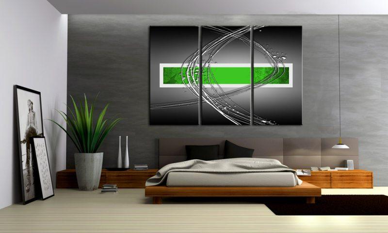 Metallic Gr N Ii Leinwand Bilder Style Abstrakt C Die
