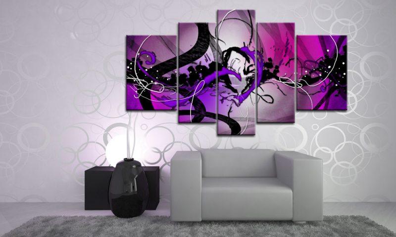 Wandbilder Wohnzimmer Lila