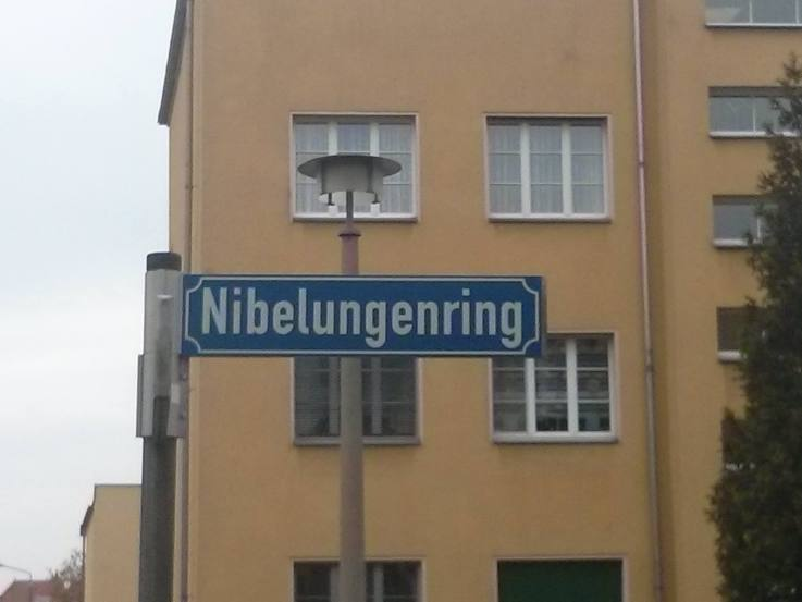 Guess what German icon this street honors? Photo by C. Engberts.