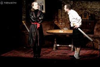 Lindsay Raggett and Justin Sands in Elsie & Norm's Macbeth, photo Kapuczino
