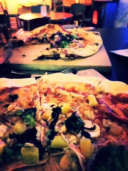 Vegan pizzas at Pizza LAB. Photo: Tayyibe Armagan