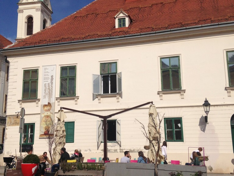 The façade of the Museum of Broken Relationships, Zagreb Upper Town. Photo: Ana Ribeiro