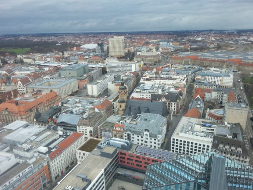 View from Leipzig's Panorama Tower. (Photo: Marjon Borsboom)