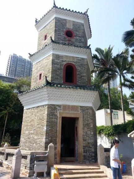 Tower along the Ping Shan Heritage Trail, Hong Kong. (Photo: Helena Flam)