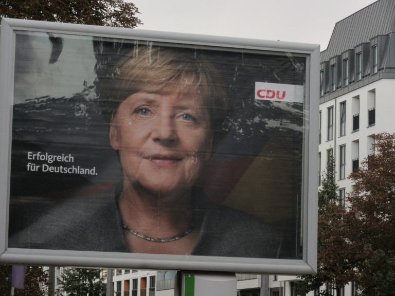 """The Union and its leader, Angela Merkel: """"Successful for Germany."""" (Photo: Maximilian Georg)"""