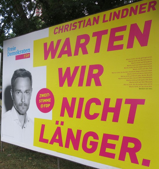 """The FDP and its leader, Christian Lindner: """"Let us wait no longer."""" (Photo: Maximilian Georg)"""