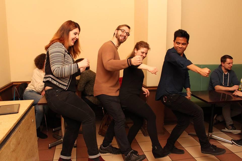 The Digital Yuppies Leipzig Team: Mario Wentzel, Shawn Segundo, Katerina Maria Kon, Marilu Valente. Photo: Sarah Alai