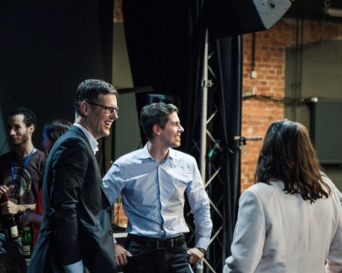 LeipGlo Job Fair on stage, after TK Startup Pitch Contest. Photo: Justina Smile Photography)