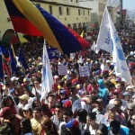 Venezuelans protesting against Maduro. (Photo: Elsy Oviedo)