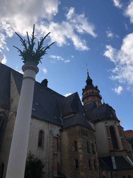 Column at Nikolaikirche