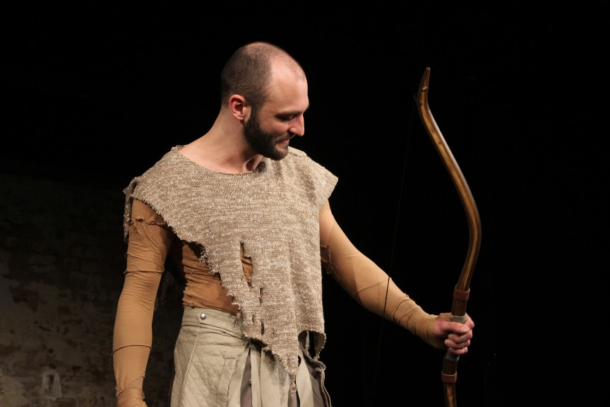 Philoctetes with the bow of Heracles. Image by Shira Bitan, courtesy of ETL.