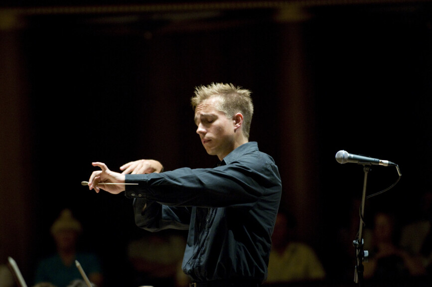Conductor Vasily Petrenko conducting - photo courtesy of Mark McNulty