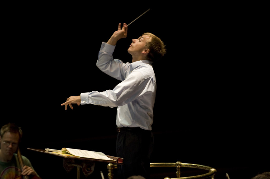 Conductor Vasily Petrenko in Albert Hall, London with Liverpool Philharmonic