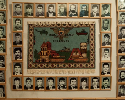 Museum of Fallen Soldiers exhibit in Nagorno Karabakh