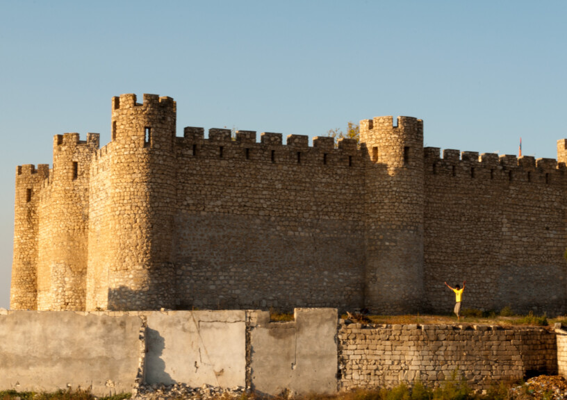 Shahbulag Castle, an 18th century fortress located near the razed city of Agdam