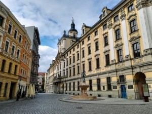 square at the university building Wrocław