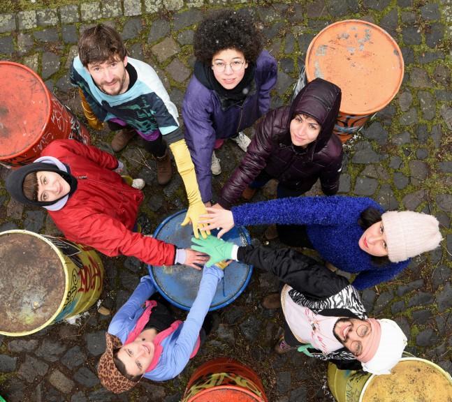 Hands together, Polyrhymthms group, Photo by Kay Kölzig, @kaycosinus