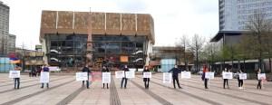 Armenian POW protest on Augustusplatz in Leipzig