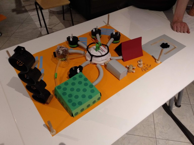 A model for a Mars Colony as part of the team-building exercise at Devhaus.