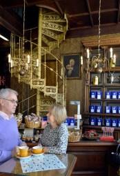 arko-Café (Kaffe Richter) in der Petersstrasse in Leipzig - ein traditionelles Kaffehaus in der Innenstadt. Foto: Volkmar Heinz / volkmar@heinz-report.de