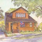 Bungalow house portrait: Salt Lake City, UT