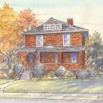 Craftsman house portrait: Chicago, IL