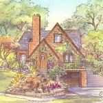 Tudor style house portrait: East Lansing, MI
