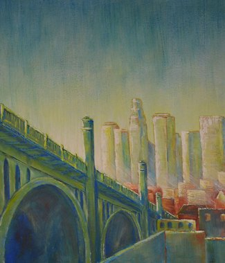 Dawn-Downtown-LA---Acrylic-on-Canvas---24-x-36-inches---$-1120small
