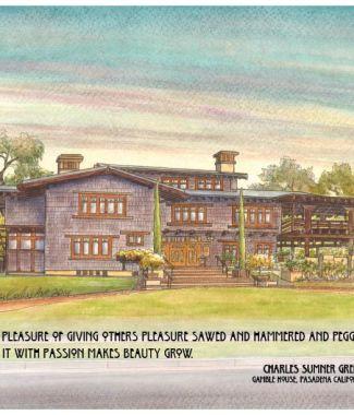 Gamble House Pasadena CA  with Greene & Greene quote  (792x612)