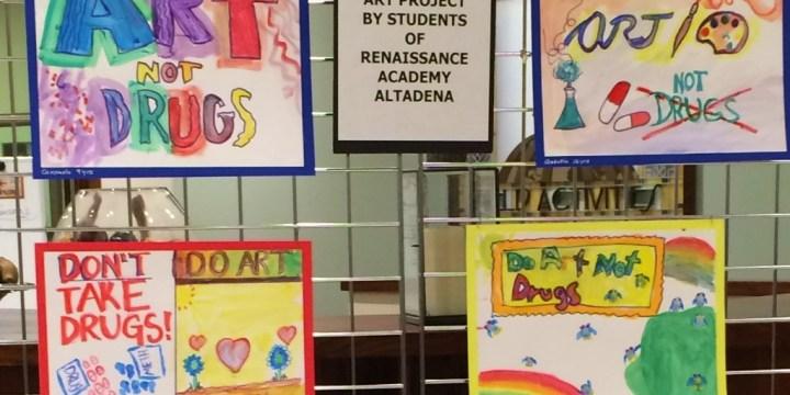 Children's Art Exhibit – Do Art Not Drugs!