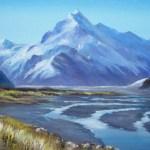 SOLD - Mt Cook from Tasman Glacier
