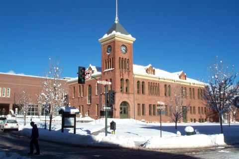 Historic Coconino County Courthouse in Downtown Flagstaff