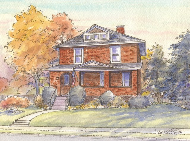 Chicago Craftsman Style House Portrait