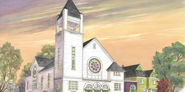 Painting of Historic Grand Rapids Church Transformation Unveiled!
