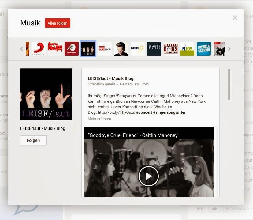 LEISE/laut bei Google+
