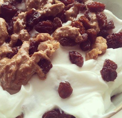 Yoghurt, Dried fruit, Nut Butter