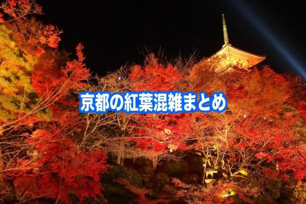 【京都の紅葉混雑状況2019】 平日・土日(見頃時期)!車と自電車混雑回避法