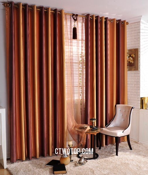 Red Brown And Gold Striped Curtains Best Curtains