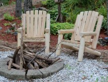 Adirondack Log Chair Dundalk Canada Barrel Saunas